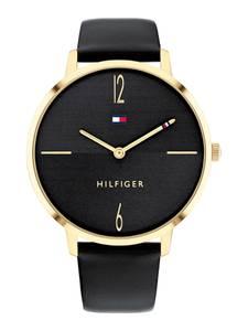 TOMMY HILFIGER Uhr schwarz / gold