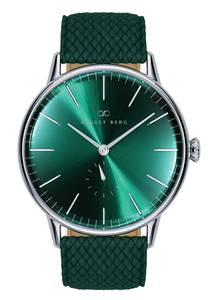 August Berg Uhr Serenity Greenhill Eye Dark Green Perlon 40mm grün