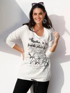 Shirt creme-weiß/schwarz MIAMODA