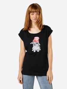 Iriedaily Shirt ''It Hasi'' schwarz / grau / weiß / rot