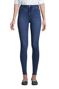 High Waist Leggings-Jeans mit Stretch in Petite-Größe, Damen, Größe: XS Petite, Blau, Elasthan, by Lands'' End, Blau Buche