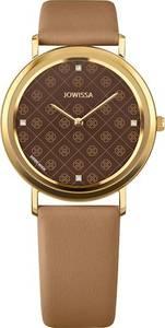 JOWISSA Quarzuhr ''AnWy'' Swiss Ladies Watch gold / braun