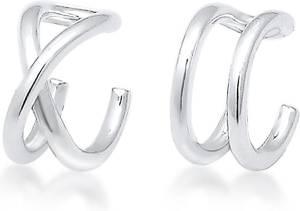 Elli Oorbellen Oorringen earcuff set geo basic minimal 925 Sterling silver
