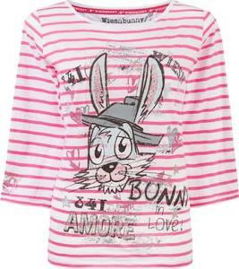STOCKERPOINT Shirt ''Bunny in Love'' schwarz / pink / weiß / grau