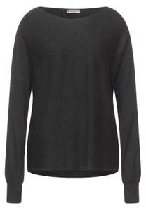 Street One Damen Pullover mit Dolmanärmel in Grau