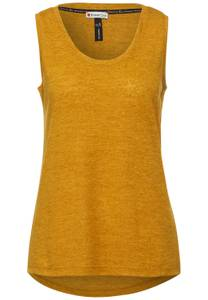 Street One Damen Top in Melange Optik in Gelb