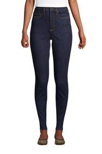 Shaping Jeans, Skinny Fit High Waist, Damen, Größe: 34 30 Normal, Blau, Denim, by Lands'' End, Tiefes Indigo