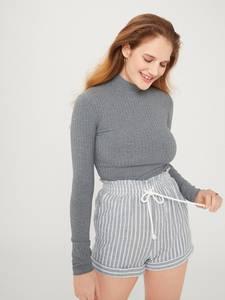 EDITED Shirt ''Manon'' grau / graumeliert