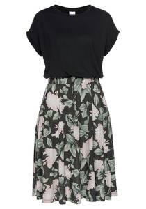 BUFFALO Kleid ''Cottage Paperba'' rosa / schwarz / grün