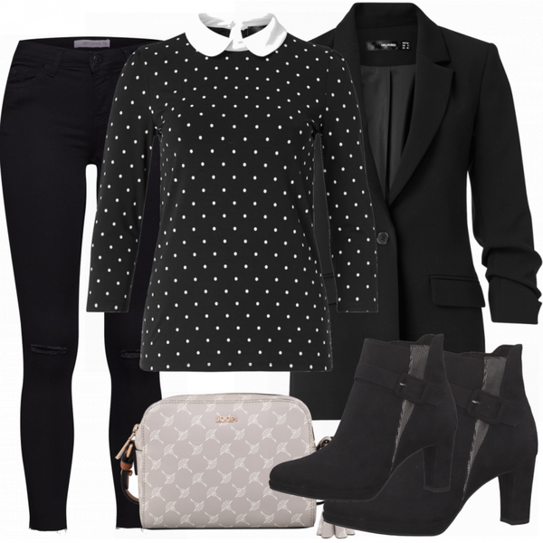 Business Look Damen Schwarz FrauenOutfits.de