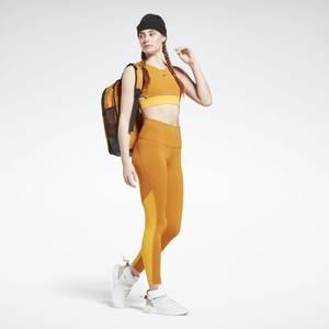 Reebok Sport Sporthose dunkelorange / gelb