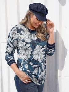 Shirt marineblau/weiß MIAMODA