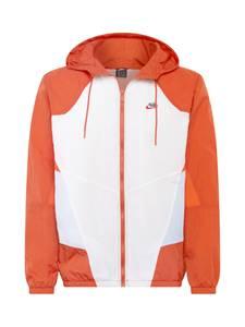 Nike Sportswear Windbreaker ''Heritage'' weiß / dunkelorange / hellblau