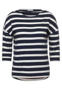 Shirt met strepen - deep blue