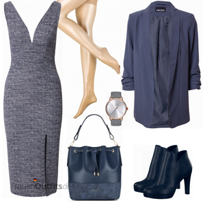 Blauer Businessoutfit FrauenOutfits.de