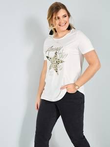 Shirt off-white/goldfarben Sara Lindholm