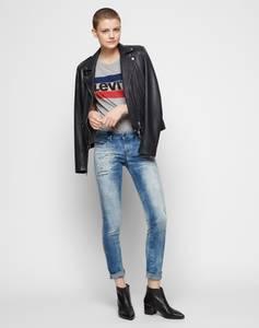 LEVI''S Shirt grau / nachtblau / rot