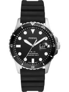 FOSSIL Uhr silber / schwarz