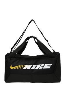 NIKE Sporttasche ''Brasilia'' schwarz / weiß / gelb