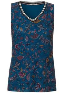 CECIL Damen Top mit Paisley Print in Blau