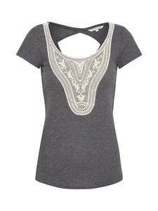 Review T-Shirt creme / dunkelgrau