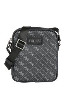 GUESS Tasche ''Mini Document'' schwarz / anthrazit / hellgrau
