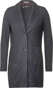 Lange blazer met reverskraag - carbon grey