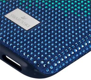 Swarovski Smartphonehülle weiß / blau / cyanblau