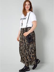 Shirt weiß/cognac/schwarz Sara Lindholm
