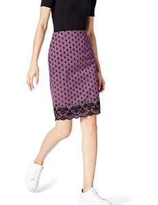 find. Damen Rock Lace Hem Spot Mehrfarbig (Orchid/Black), 36 (Herstellergröße: Small)