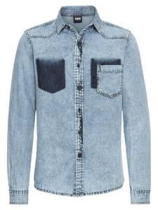 Urban Classics Hemd blue denim