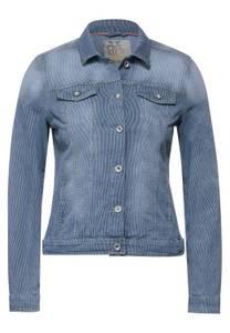 CECIL Damen Denim Jacke mit Streifen in Blau