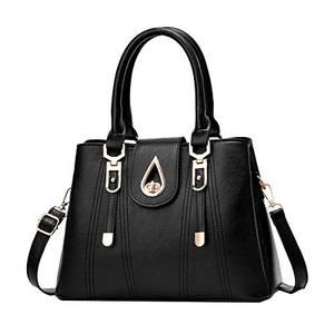SDINAZ Damenhandtaschen Mode Schultertaschen Shopper Umhängetaschen Henkeltaschen DE99 Schwarz