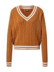 Urban Classics Pullover weiß / cognac
