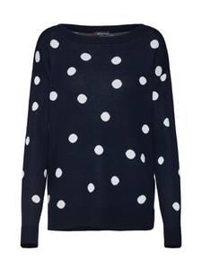 STREET ONE Pullover dunkelblau / weiß