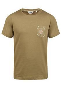 !Solid Ilari Herren T-Shirt Kurzarm Shirt mit Rundhalsausschnitt, Größe:L, Farbe:Ermine Melange (5944M)