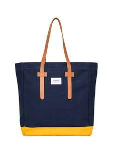 SANDQVIST Tasche blau / gelb