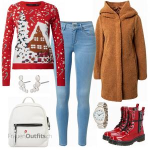 Schneeflocke Winterlook FrauenOutfits.ch