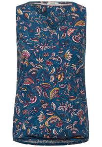 CECIL Damen Top mit Paisley-Design in Blau