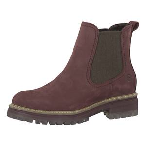 TAMARIS Chelsea Boots hellbeige / dunkelbraun / rotviolett