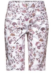 CECIL Damen Loose Fit Shorts in Print in Weiß