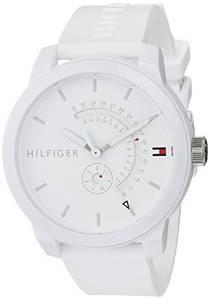 Tommy Hilfiger Unisex Analog Quarz Uhr mit Silikon Armband 1791481