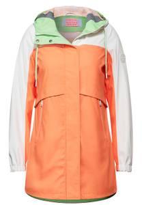 CECIL Damen Lange Regenjacke in Orange