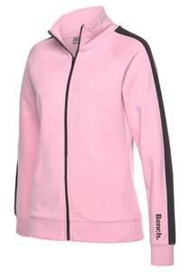 BENCH Sweatjacke rosa / schwarz