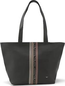 TOM TAILOR Shopper schwarz