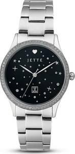 JETTE Uhr schwarz / silber
