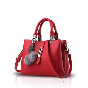 NICOLE & DORIS 2021 Neue Welle Paket Kuriertasche Damen weiblichen Beutel Handtaschen für Frauen Handtasche Claret Rouge
