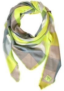 CECIL Schal grün / gelb / grau