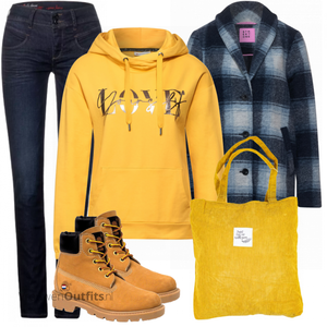 Coole alledaagse outfit VrouwenOutfits.nl