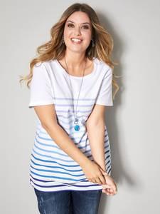 Shirt weiß/blau Janet & Joyce
